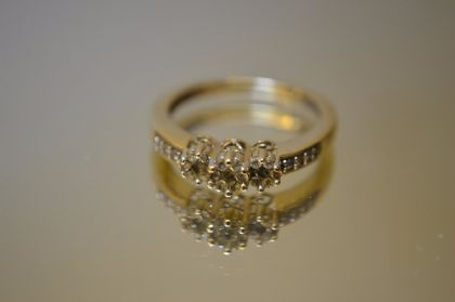 9ct Diamond Trilogy Ring